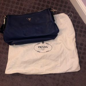Blue Prada Bag